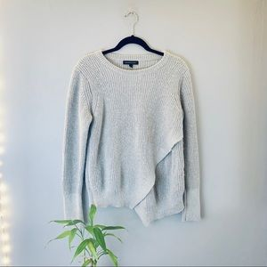 Banana Republic Gray Ribbed Knit pullover Sweater